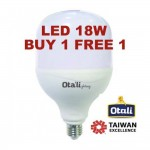 Taiwan Otali Eye Care LED ET Bulb 18W E27 Cool White/Warm White (Buy 1 Free 1)
