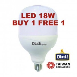 image of Taiwan Otali Eye Care LED ET Bulb 18W E27 Cool White/Warm White (Buy 1 Free 1)
