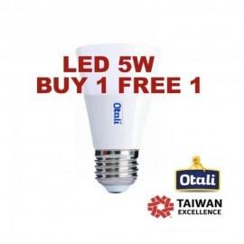 image of Otali Ice Cream LED Bulb 5W E14/E27 (Buy 1 Free 1)