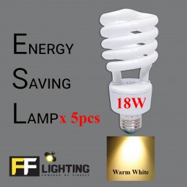 image of FFL FSP Energy Saving Bulb 18W E27  Warm White x5pcs