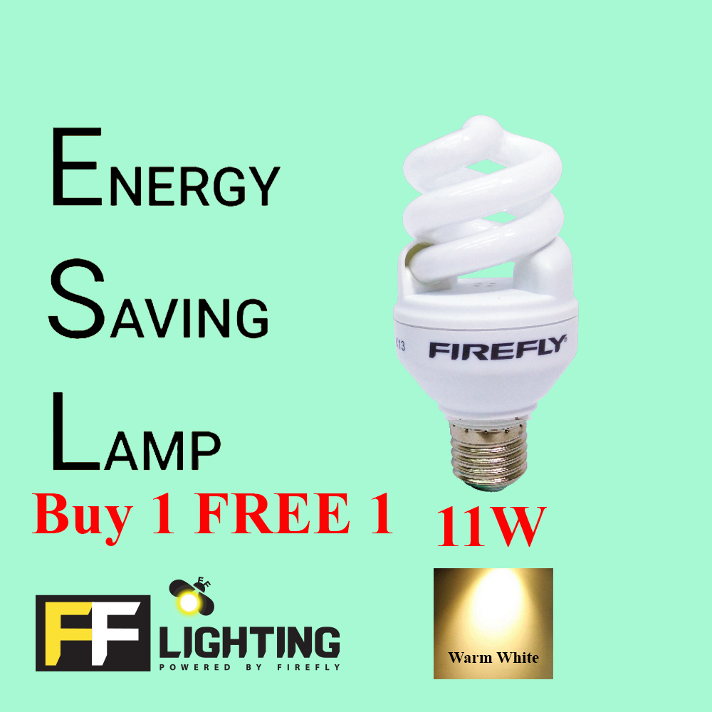 FFL FSP Energy Saving Bulb 11W E27  Warm White Buy 1 FREE 1