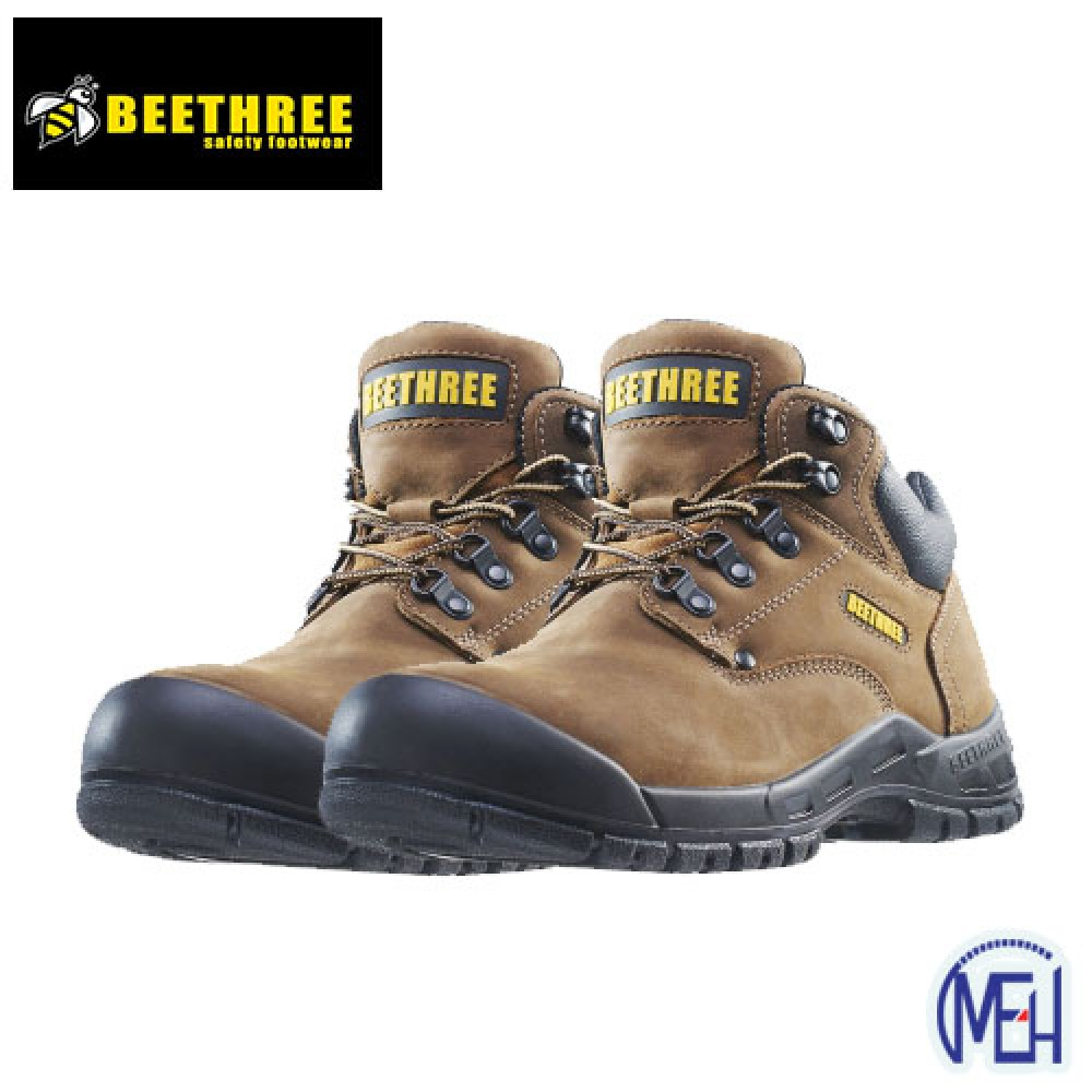 Beethree SafetyFootware BT-8861 Brown