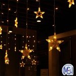 Five Pointed Star LED ChristmasLight W/W