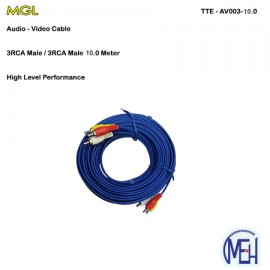 image of Audio-Video Cable / 3RCA Male 20.0 Meter (TTE-AV003-10.0)