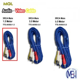 image of Audio-Video Cable/3RCA Male/ (TTE-AV003-1.5)