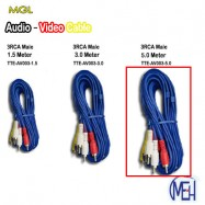 image of Audio-Video Cable /  3RCA Male   (TTE-AV003-5.0)