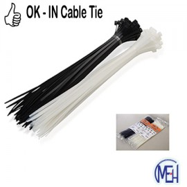 """image of OK-IN Cable Tie 4"""" (100MM)L X 2.5 MM (White / Black)"""