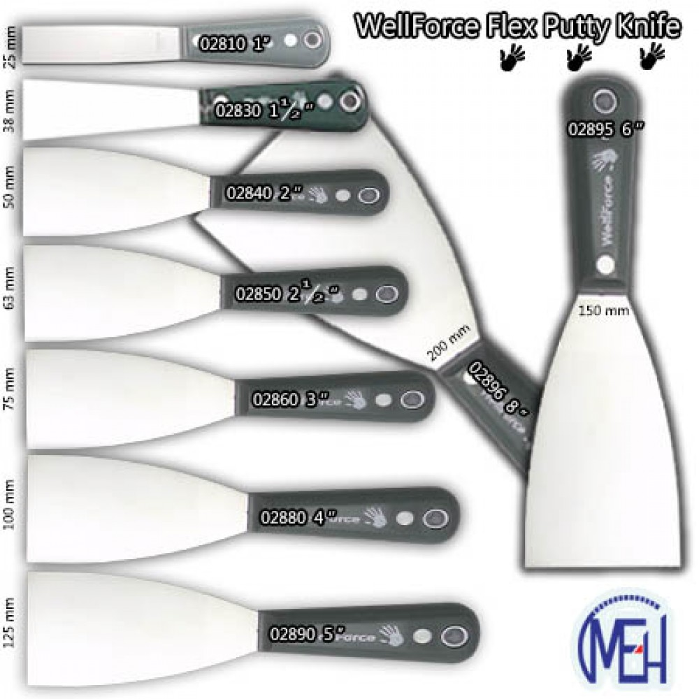 Wellforce Flex Putty Knife 02810 1'' (25 mm )