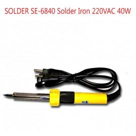 image of SOLDER SE-6840 Solder Iron 220VAC 40W