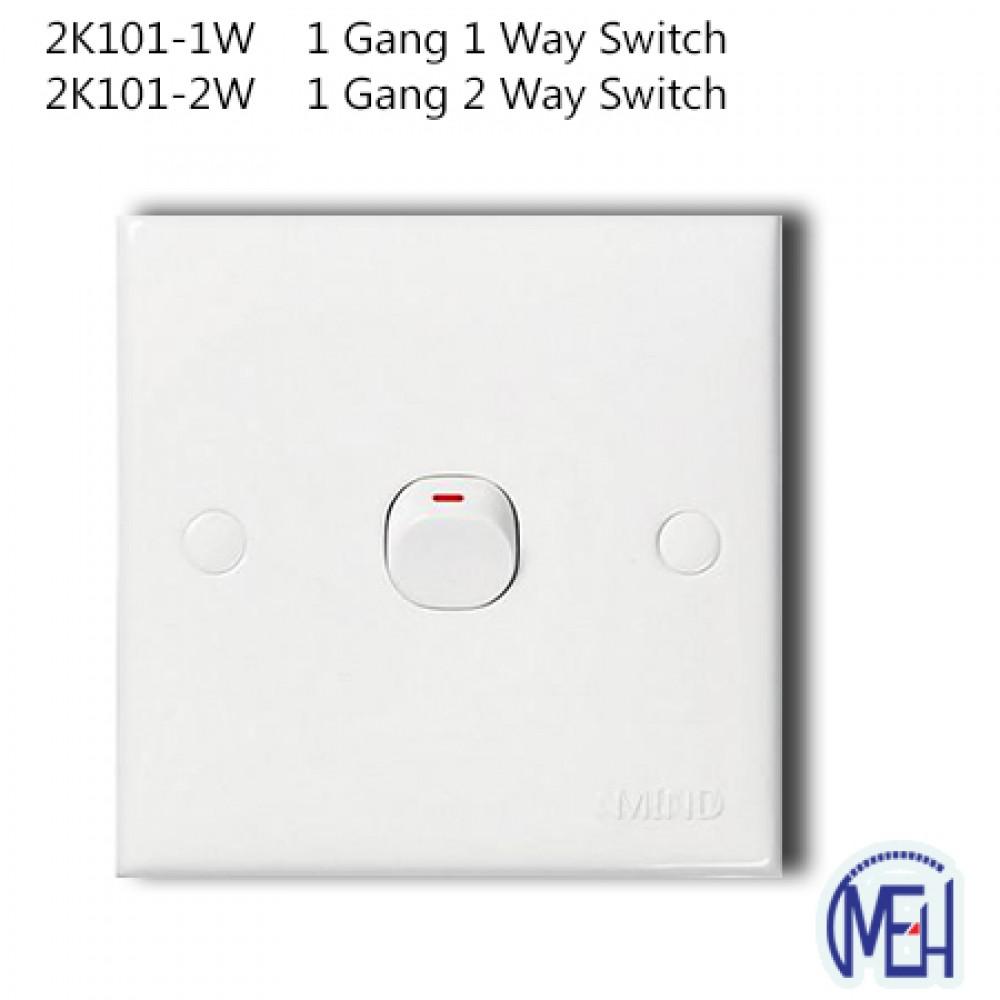 2K101-1W    1 Gang 1 Way Switch