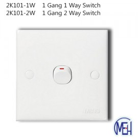image of 2K101-1W    1 Gang 1 Way Switch