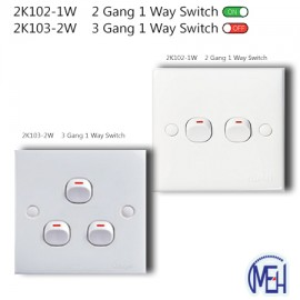 image of 2K102-1W    2 Gang 1 Way Switch