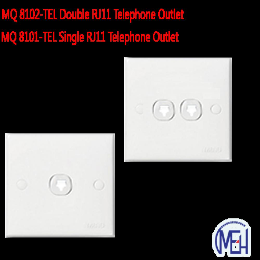 MQ 8101-TEL Single RJ11 Telephone Outlet
