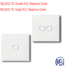 image of MQ 8101-TEL Single RJ11 Telephone Outlet