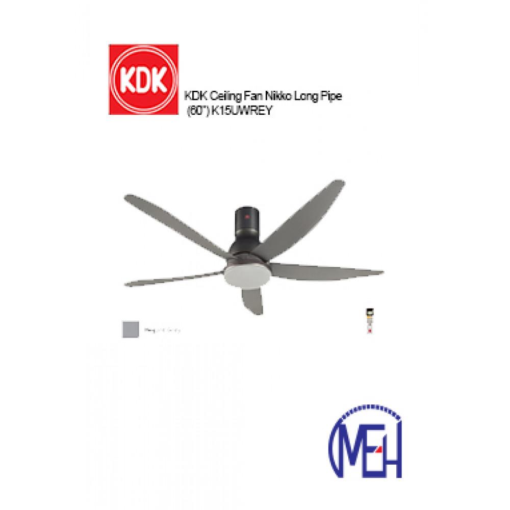 """KDK Ceiling Fan Nikko Long Pipe (60"""") K15UWREY"""