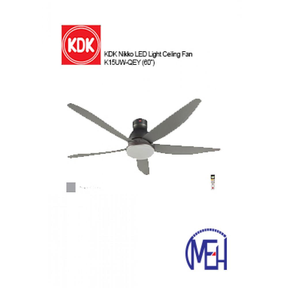 KDK Nikko LED Light Ceiling Fan K15UW-QEY (60'')