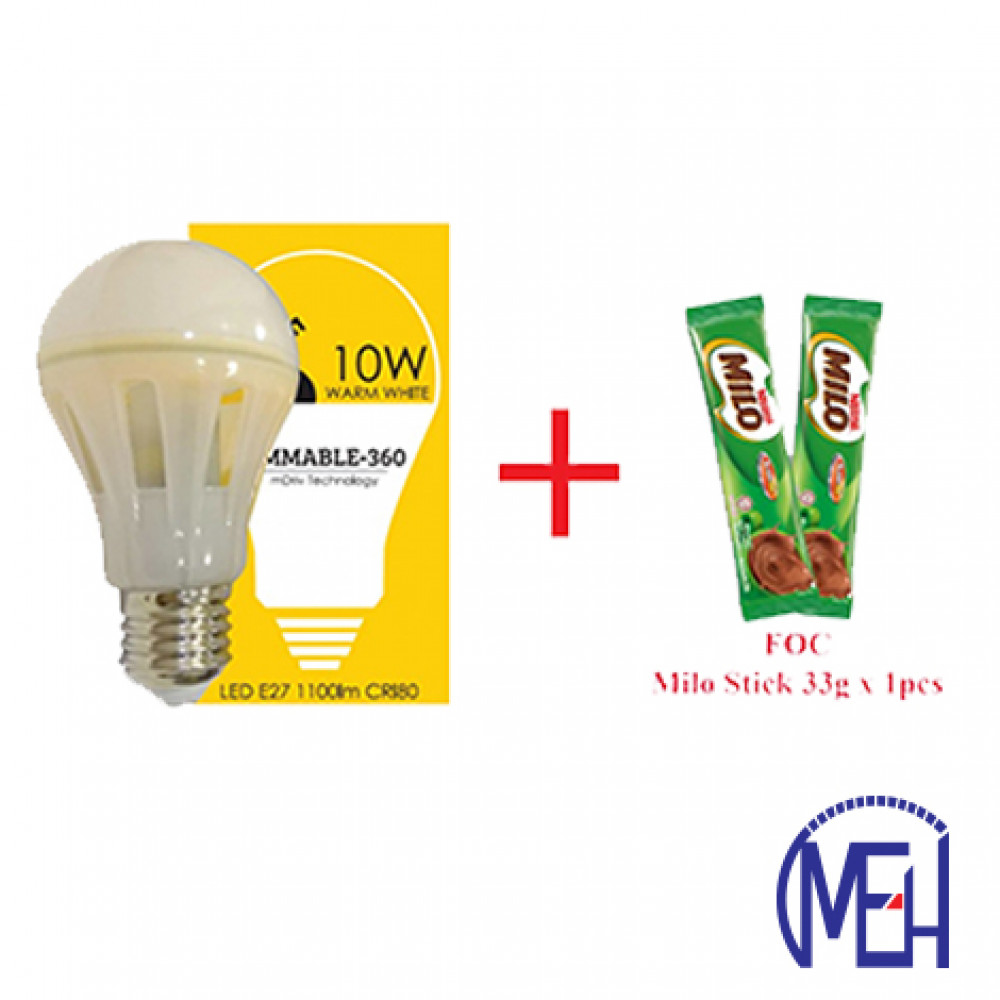 FF Lighting LED Dimmable-360 Mdriv Technology Bulb 10W E27 Warm White 3000K