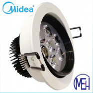 image of Midea 7W Led Eye Ball Spotlight with Milk White Cover Warm White