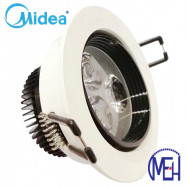 image of Midea 3W Led Eye Ball Spotlight with Milk White Cover Day Light