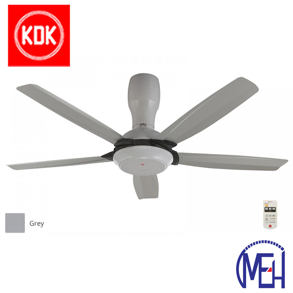 "KDK Remote Control Type Ceiling Fan (140cm/56"") K14Y5-GY"