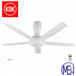 "KDK Remote Control Type Ceiling Fan (140cm/56"") K14Y5-WT"