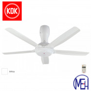 "image of KDK Remote Control Type Ceiling Fan (140cm/56"") K14Y5-WT"
