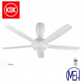 "image of KDK Remote Control Type Ceiling Fan (140cm/56"") K14Y5-WT"