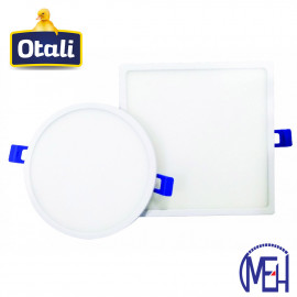 image of Otali LED Ultra Slim Panel Light 12W Round/Square Cool White/Warm White