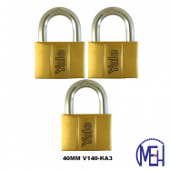 image of Yale Brass Padlock (40mm) V140-40KA3