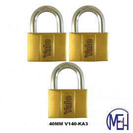image of Yale Brass Padlock (40mm) V140-40KA3