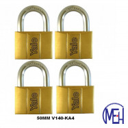 image of Yale Brass Padlock (50mm) V140-50KA4