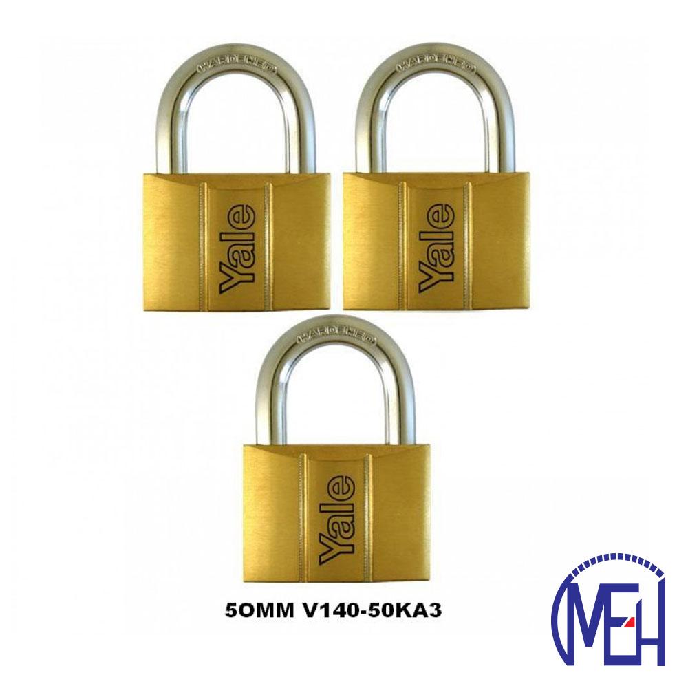 Yale Brass Padlock (50mm) V140-50KA3