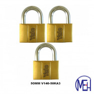 image of Yale Brass Padlock (50mm) V140-50KA3