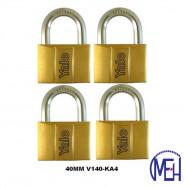 image of Yale Brass Padlock (40mm) V140-40KA4