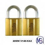 Yale Brass Padlock (40mm) V140-40KA2