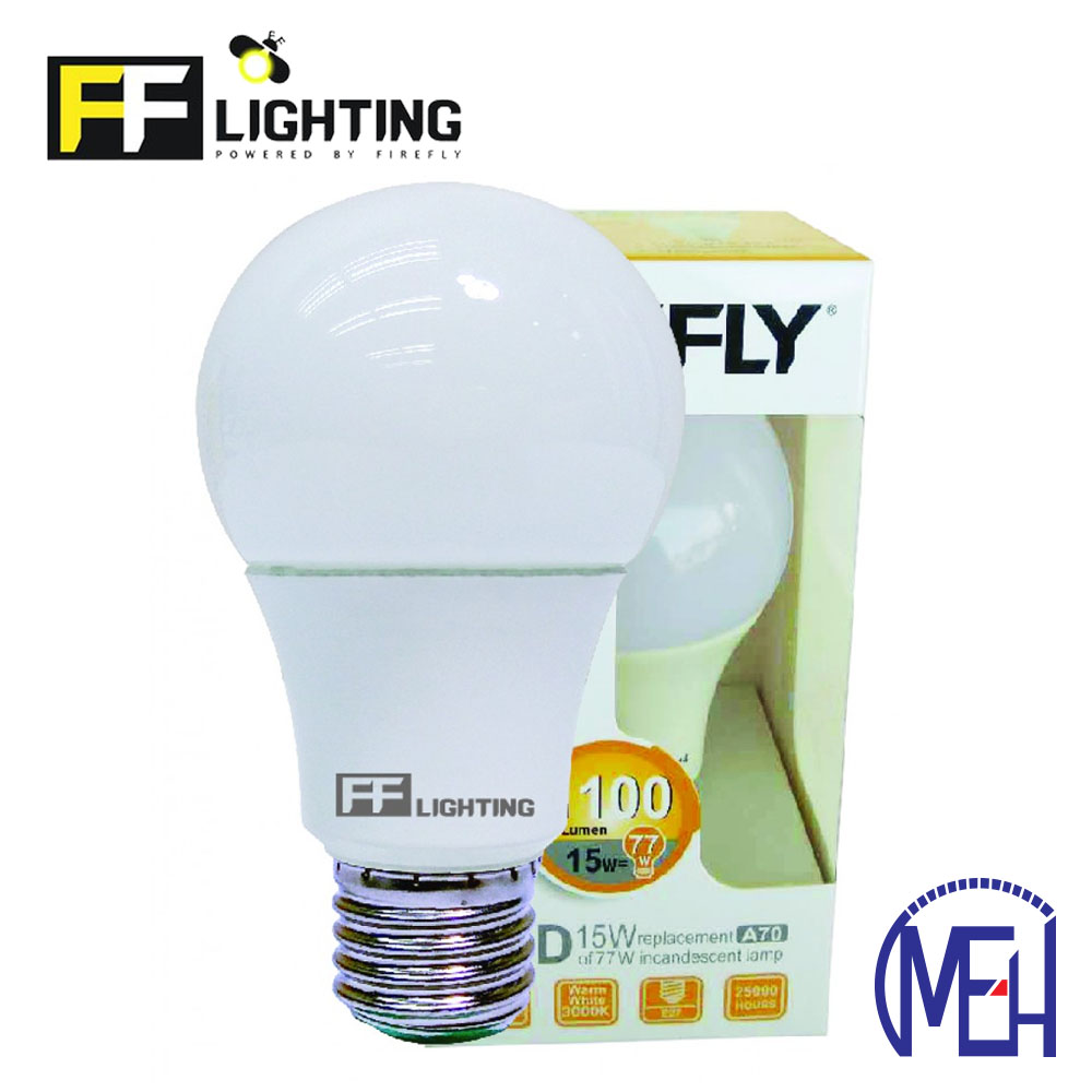 Firefly LED Energy Saving Bulb 7W E27 Warm White (3pcs)