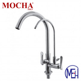 image of Mocha Pillar Mounted Sink Tap With Filter Tap M2153