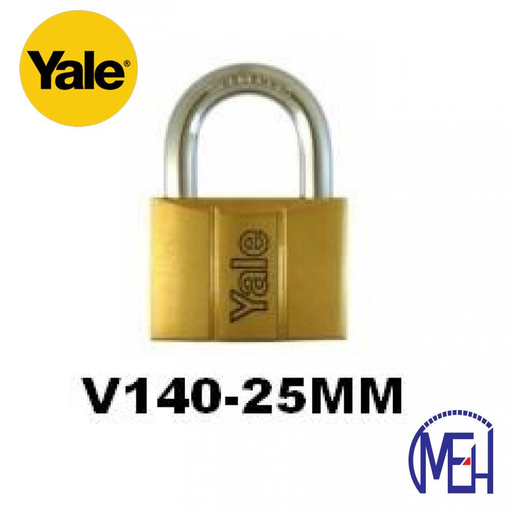 Yale Brass Padlock (25mm) V140-25