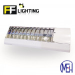 FF Lighting T8 Lourve Fitting 1x18W (2ft) with LED Glass Tube 10W