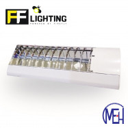 image of FF Lighting T8 Lourve Fitting 1x18W (2ft) with LED Glass Tube 10W