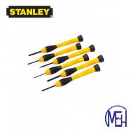 image of Stanley Bi-Material Handle Precision Screwdriver Set (6pcs) STHT66052-8