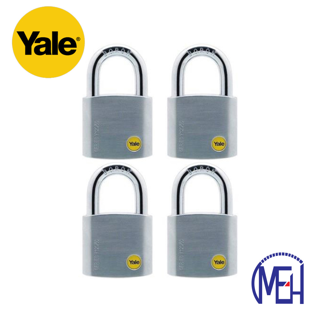 Yale Solid Brass Padlock (50mm) Y120-50-127-4-P1