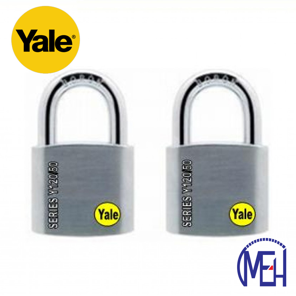 Yale Solid Brass Padlock (50mm) Y120-50-127-2-P1