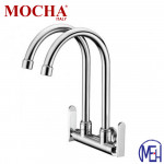 Mocha Wall Mounted Sink Tap (Double-'9' Series) M9122