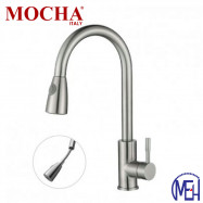 image of Mocha Kitchen Tap with Pull Out Shower (Mixer-304 Faucet) M4131SS