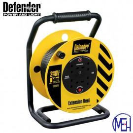 image of Defender Industrial Trade Reel 50 Meters (Power Cord) E86582