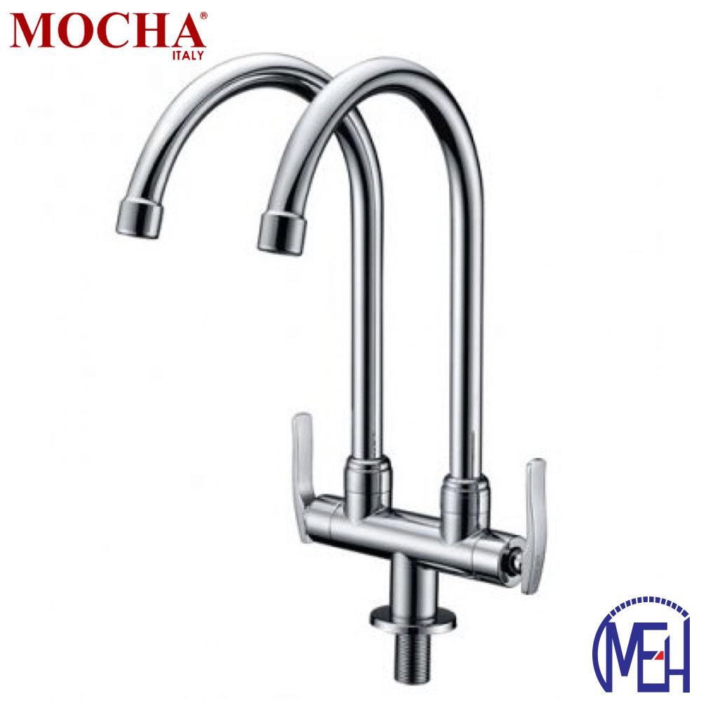 Mocha Mounted Sink Tap (Double-'8' Series) M8123