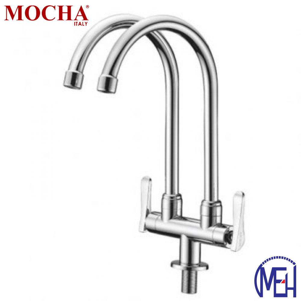 Mocha Pillar Mounted Sink Tap (Double-'2' Series) M2123