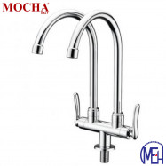 image of Mocha Pillar Mounted Sink Tap (Double-'1' Series) M1123