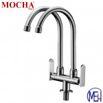 Mocha Pillar Mounted Sink Tap (Double-'9' Series) M9123